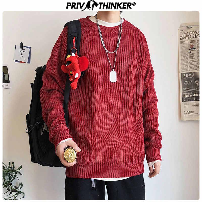 Privathinker 2020 outono inverno camisola dos homens pulôver 9 cores casual masculino de malha coreano sólido tops streetwear camisola dos homens