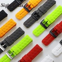 시력 초점 24mm 실리콘 고무 손목 시계 용 Suunto 9 / Baro 시계 밴드 Suunto 7 Watchband Spartan Watch Band Traverse Strap