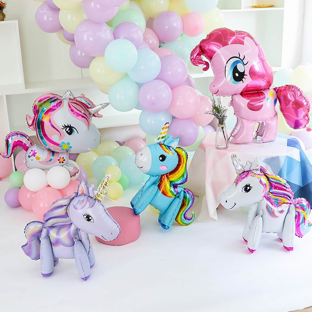 1 шт. розовый «Мой маленький пони» номер фольгированные гелиевые шары шар Дети девочка игрушка, хороший подарок на день рождения, свадьбу, жи...