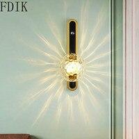Mit Switche Glas Wand Licht Nordic Led Wand Lampe für Nacht Korridor Bad Vintage Decor Beleuchtung Loft Leuchte Leuchte-in Pendelleuchten aus Licht & Beleuchtung bei