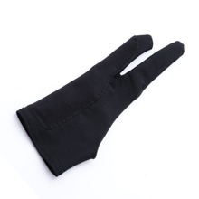 Drawing-Gloves Artist for Student Pen Tablet Pad-Supplies Two-Finger Anti-Fouling Graphics