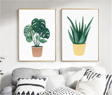 Wall Art Canvas Painting Nordic Fresh Plants Decorative Paintings Print Picture Poster for Living Home Room haochu nordic landscape canvas art print painting poster modern fresh hazy plants character home wall decoration for living room