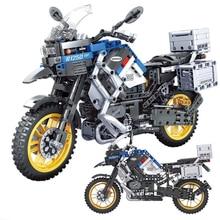 Hipac 948 sztuk klocki miasto motocykl samochód Technic DIY dzieci dla zabawek motocykl samochody cegły zabawki edukacyjne dla chłopców