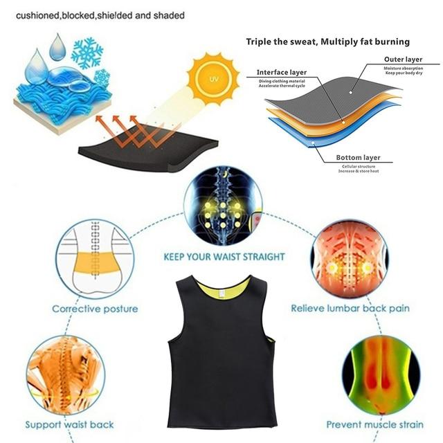 Men Slimming Body Shaper Waist Trainer Belt Belly Slimming Vest Sauna Neoprene Abdomen Fat Burning Shaperwear Waist Sweat Corset 3