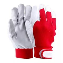 Welding Gloves Heat Shield Gloves Safety Protection Gloves Soft Pigskin Elastic Knitted Work Gloves Anti-static Gloves cheap CN(Origin) 100-140g Thick Gardening Leather 230 (mm) Non-disposable safety cuffs safety protection anti-oil anti-static