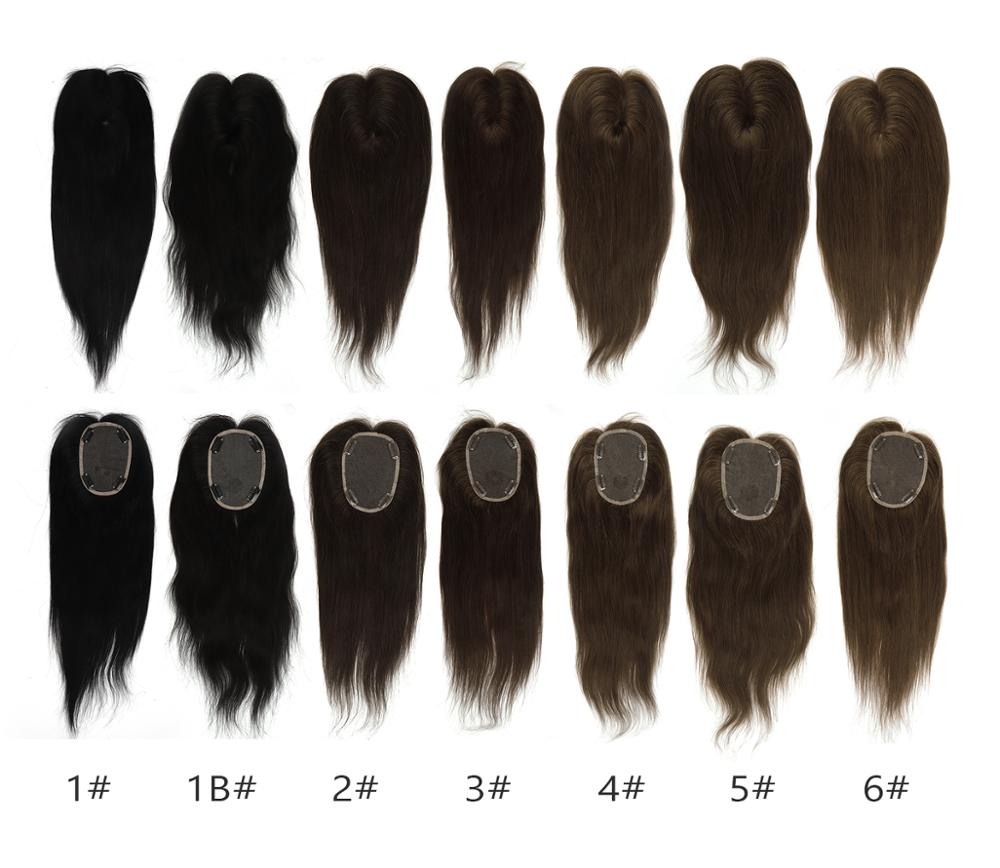 Vlasy 180% Density Remy Human Hair Topper Wigs 10*13cm Clip In Hair Toupee Hairpiece For Women 14inch 60g