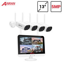 ANRAN 5MP H.265 + sistema di sicurezza Video Ultra HD telecamere IP Wireless esterne impermeabili Plug & Play Kit NVR visione notturna APP gratuita