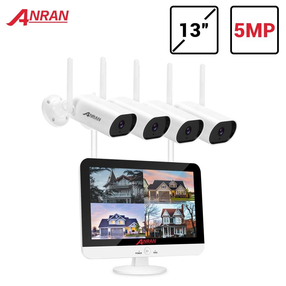ANRAN 5MP H.265 + sistema di sicurezza Video Ultra HD telecamere IP Wireless esterne impermeabili Plug & Play Kit NVR visione notturna APP gratuita
