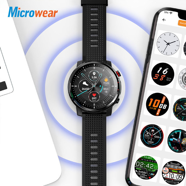 2020 New Microwear L15 Smart Watch Men IP68 Waterproof smartWatch ECG PPG Blood Pressure Heart Rate sport fitness Smartwatch 6