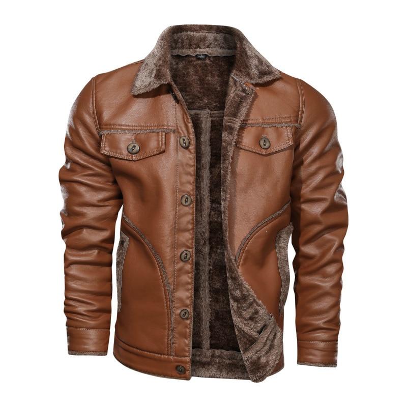 2020 New Russian Winter Leather Jacket Men Top quality Faux Fur Warm Leather  Jackets Male Coats Jaqueta De Couro Masculina 8XL|Faux Leather Coats| -  AliExpress