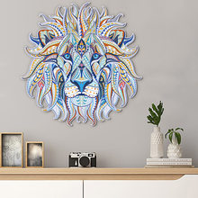 Color lion head creative wall sticker folding version living room background wall decoration wall sticker room decoration