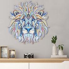 Cor leão cabeça criativo adesivo de parede dobrável versão sala de estar fundo decoração da parede adesivo de parede decoração do quarto