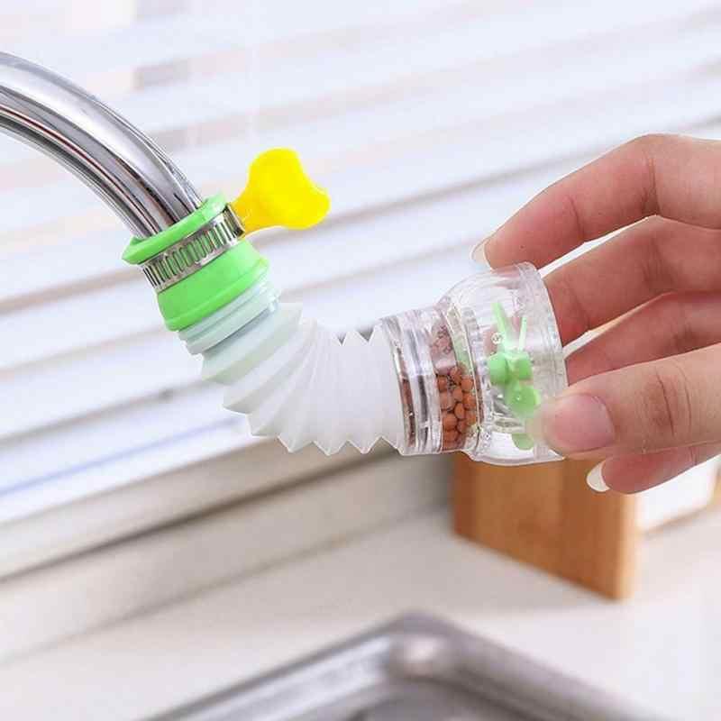 PVC Shower Keran Air Filter 360 Rotasi Keran Dapur Spouts Penyemprot Pembersih Nozzle Filter Air Saver Dapur Aksesori