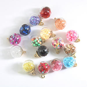 Glass-Ball Charm-Pendant Earring Necklace Finding Jewelry-Making Transparent Bracelet