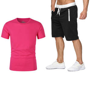Cropped-Pants T-Shirt Short-Sleeve Two-Piece-Suit Men's Casual Summer New in Hot-Products