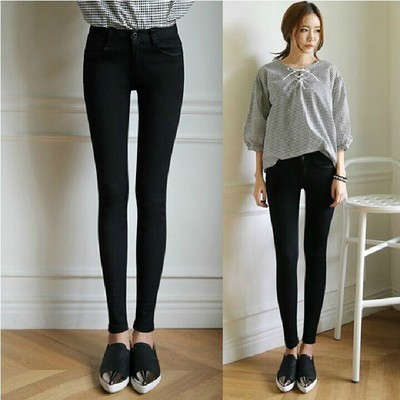 2015 Korean-style High-waisted WOMEN'S Jeans Slim Fit Slimming Jeans Women's Large Size Dress Skinny Fashion Pants