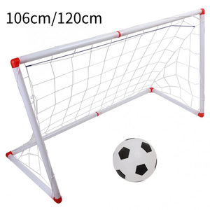 Image 1 - 106/120cm Indoor Outdoor Mini Children Football Soccer Goal Post Net Set with Ball Pump Kids Football Sport Toy Official Size