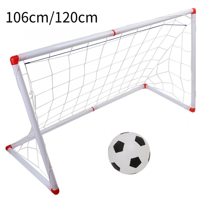 106/120cm Indoor Outdoor Mini Children Football Soccer Goal Post Net Set with Ball Pump Kids Football Sport Toy Official Size