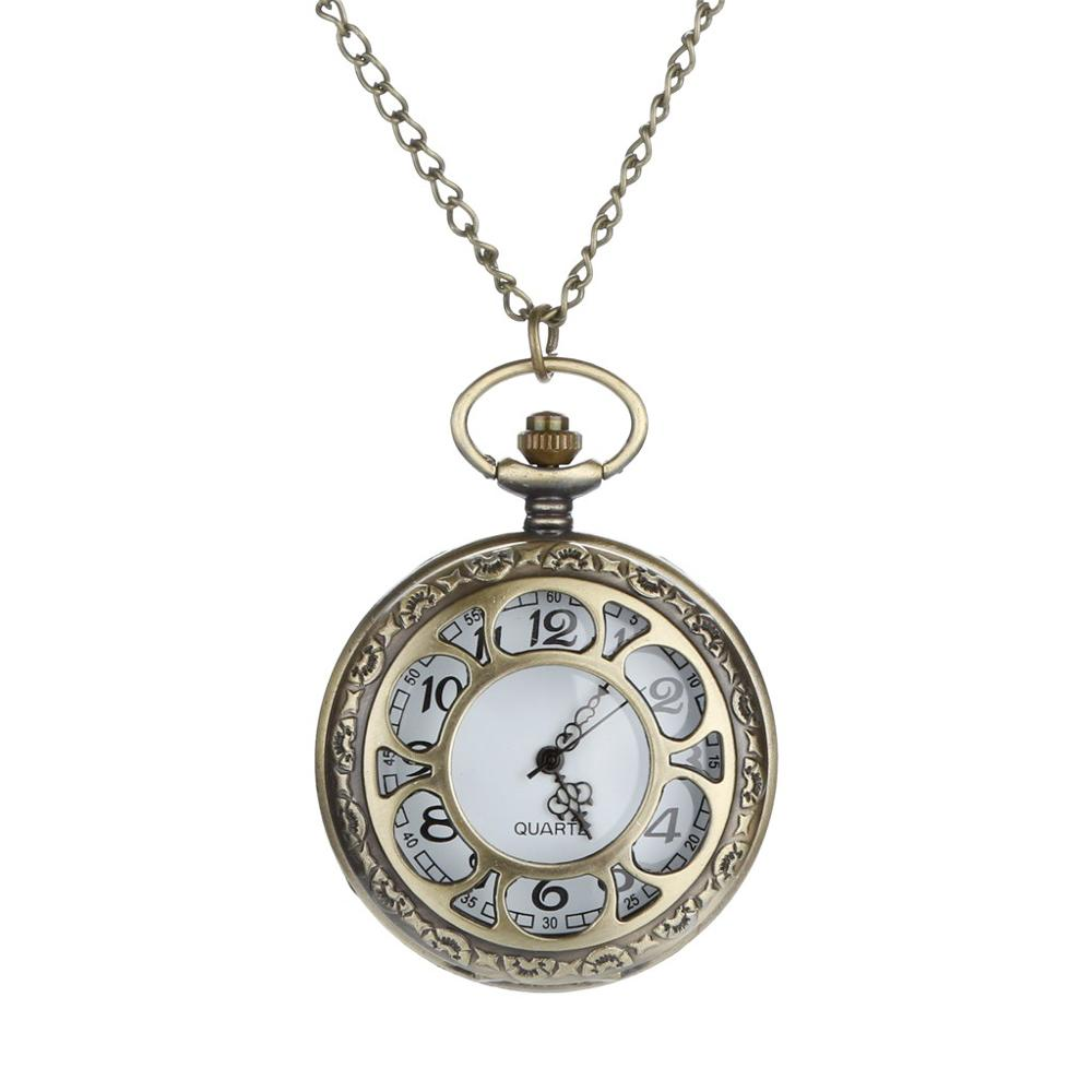Personalized Pattern Steampunk Vintage Quartz Roman Numerals Pocket Watch Watch Clock Wholesale Relogio De Bolso #4D04