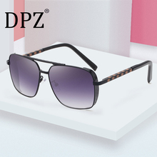 2020 New Men's Retro Box Metal aviation Sunglasses Woman Tre