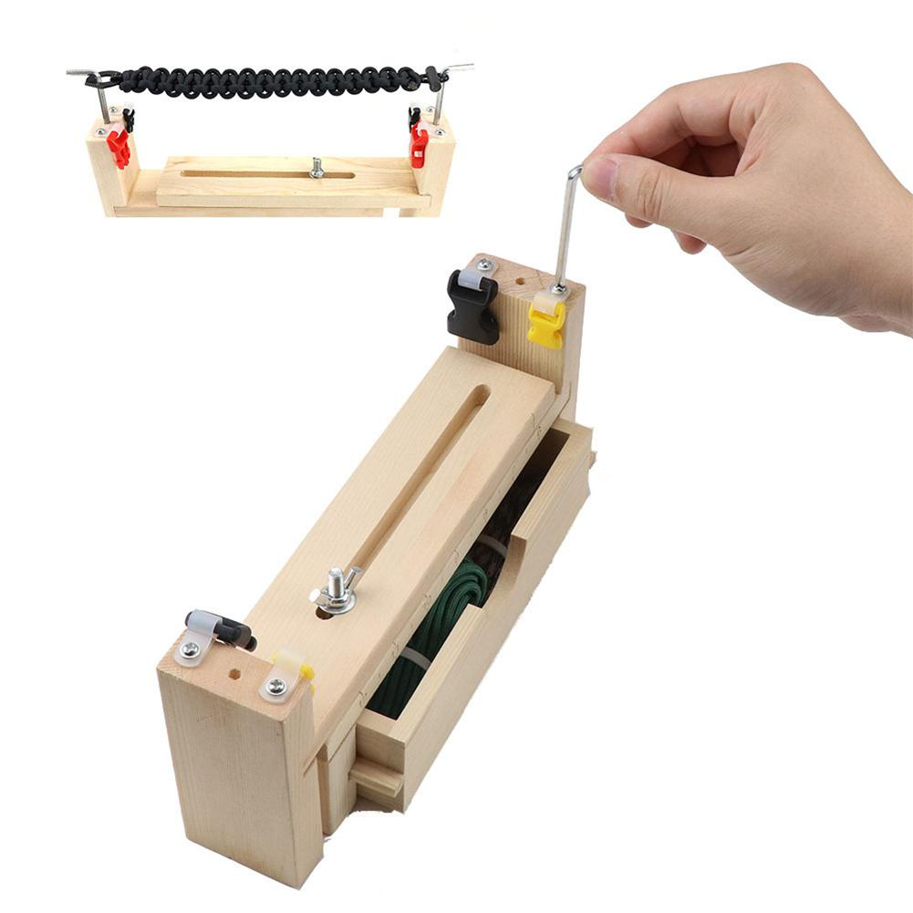 Paracord Bracelet Maker Wristband Knitting Tool Wooden Metal DIY Paracord Jig Weaving Tools Parachute Cord Braiding Craft Kit