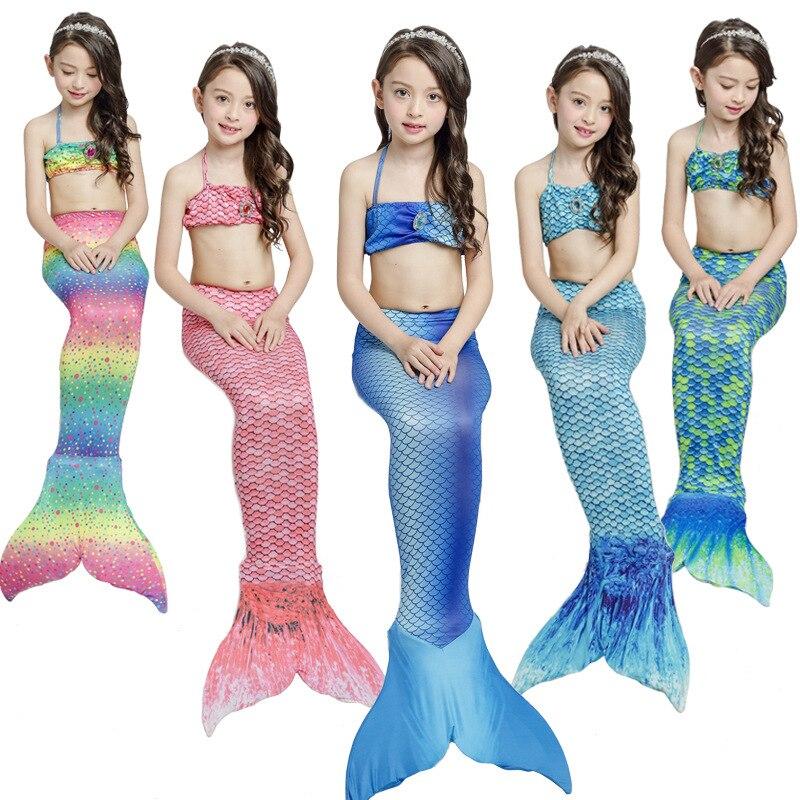 Mermaid Swimsuit Children Mermaid Tail Tour Bathing Suit Mermaid Clothing Bikini Mermaid Can Be Installed Swim Fins