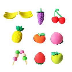 32 Pcs 5x3CM 3D Simulation Fruits and Vegetable Shaped Pencil Eraser Creative Stationery School Supplies for Kids Students