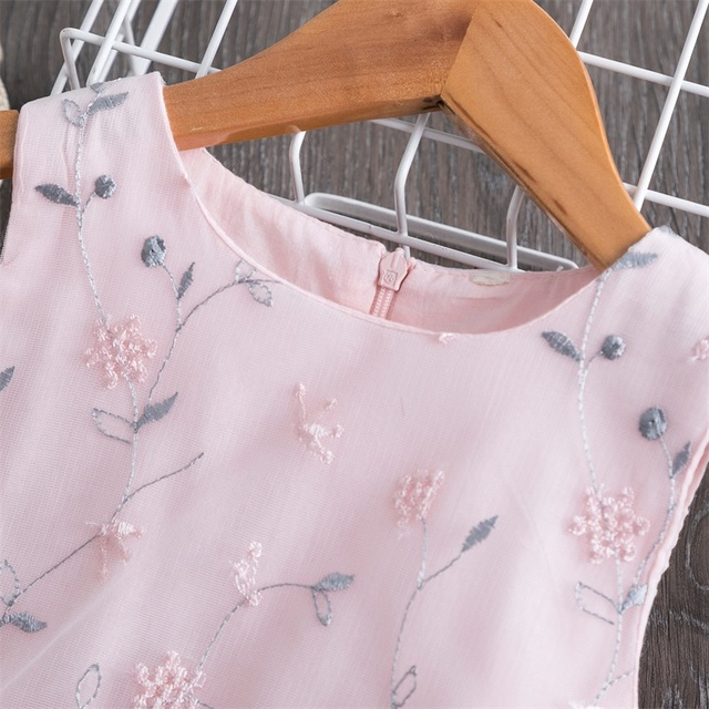 Summer Baby Kids Girls Dress Flower Princess Dress Sleeveless Party Clothes Mesh Tutu Dress for Girls 3-8Yrs Casual Clothing