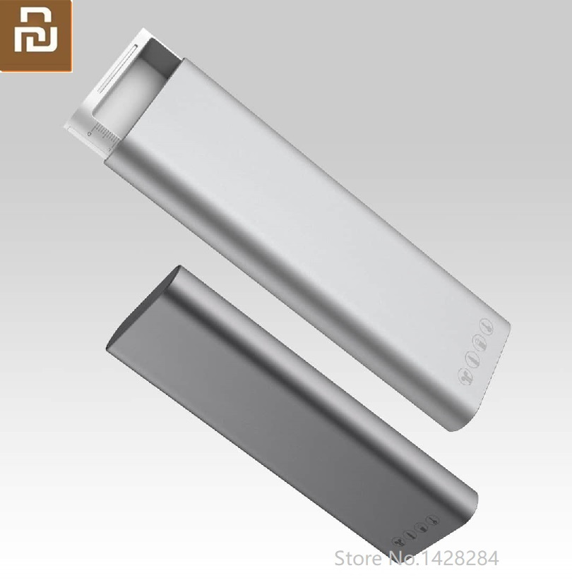 Xiaomi Miiiw otomatik Pop Up erkekler kartvizitlik tutucu Metal kırtasiye kutusu kalem kutusu kulaklık kablosu organizatör