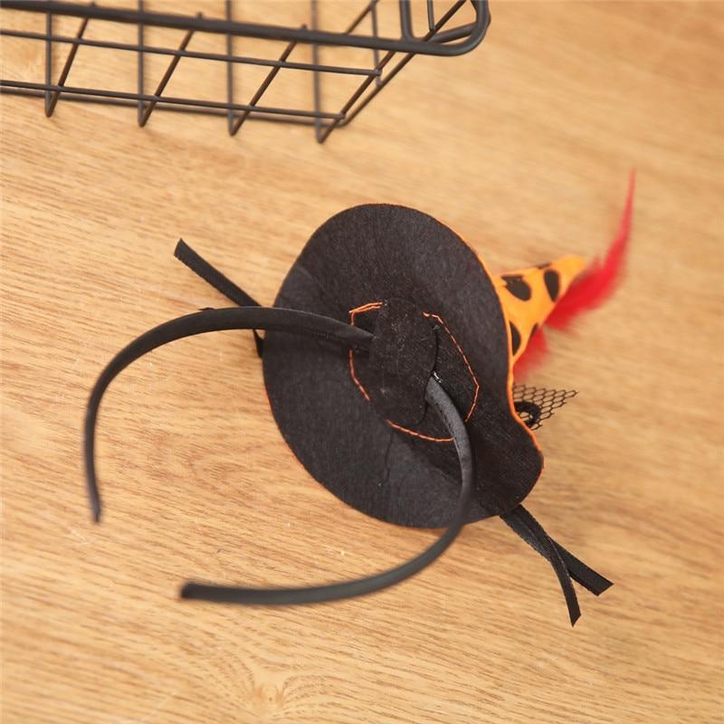 New Mini Witch Hat Headband Halloween Headbands For girls Fancy Dress Props Cosplay Party Gifts Headwear Kids 30Jul3116