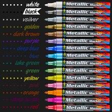 15 Kleuren Acryl Verf Marker Pen Marker Schets Briefpapier Pen Schilderen Crafting Set Voor Keramische Rock Porselein Schilderen