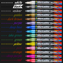 Caneta marcador de tinta acrílica, conjunto de 15 cores para pintura de esboço, papelaria, artesanato, para vidro, cerâmica, pedras e porcelana
