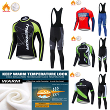 Cycling Jersey Set Pro Team 2020 Men Winter Thermal Fleece Cycling Jersey Set Bike MTB Bicycle Clothing Maillot Ropa Ciclismo