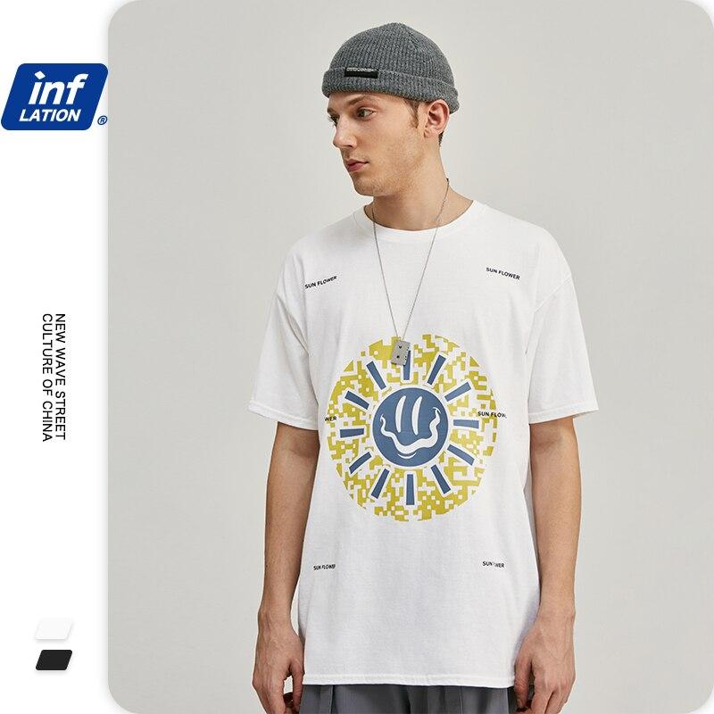 INFLATION Men Funny Print T Shirts One Piece Men T Shirt  Hip Hop Men T Shirt Camiseta Masculina Harajuku  Men Tshirt 1203S20