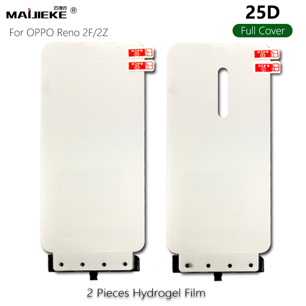 2PCS 25D Full Cover Front Back Hydrogel Film For OPPO K3 A7 A9 Reno 2F 2Z ACE Z Realme 5 Q X2 Pro Soft Screen Protector Film