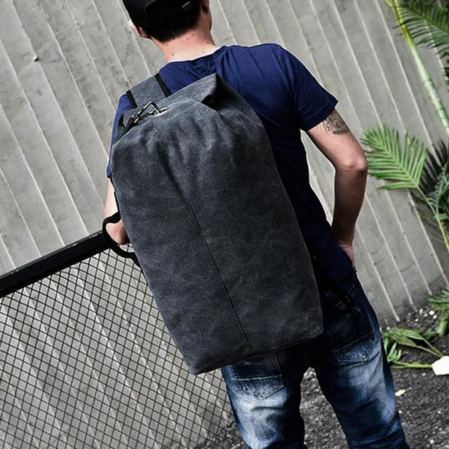 Backpack Travel Bag High Capacity Outdoors Men Canvas Field Survival Picnic Traveling Backpack 5