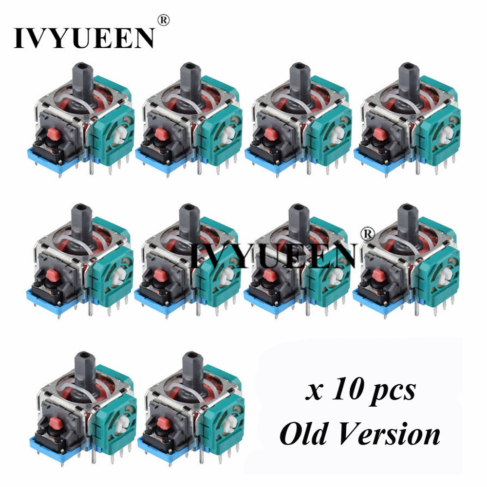 IVYUEEN 10 Pcs for Sony Dualshock 4 PS4 PRO Slim Controller 3pin 3d Rocker Joystick Axis Analog Sensor Repair Parts Accessories
