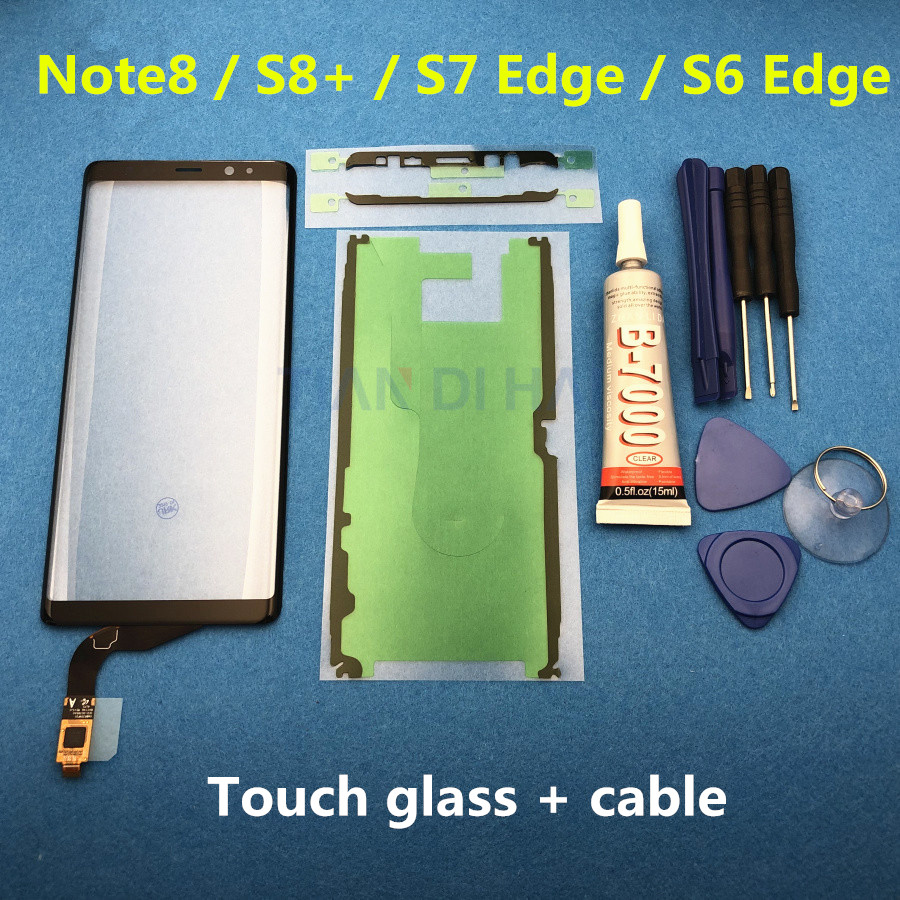 TP Touch Screen For Samsung Galaxy Note 8 SM-N950F S8 Plus S8+ S7 Edge S6 Edge Digitizer Panel Glass Lens Sensor Replacement