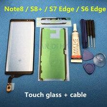 TP หน้าจอสัมผัสสำหรับ Samsung Galaxy Note 8 SM N950F S8 PLUS s8 + S7 EDGE S6 EDGE Digitizer แผงกระจกเปลี่ยนเลนส์เซ็นเซอร์