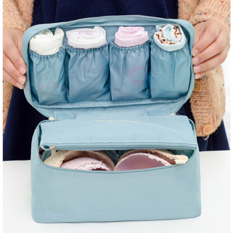 Women's Cosmetic Bags Underwear Travel Bra Bag Suitcase Organizer Luggage Organizer For Lingerie Makeup Organizers Bags