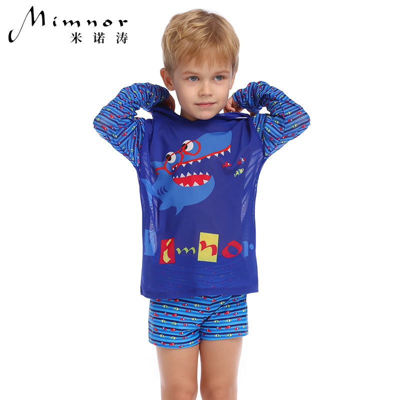 Yi Run Children Smock Swimwear Childrenswear Cartoon Boy Baby Little Big Child Split Swimming Suit