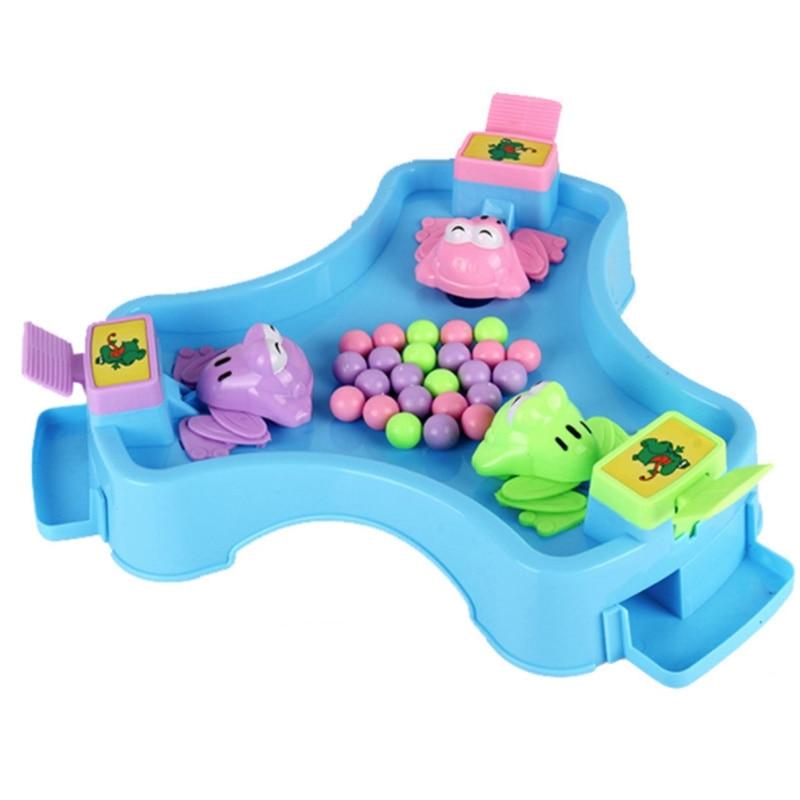 Enfants jouets classiques alimentation petite grenouille avaler perles manger haricots partie famille jeu de bureau Parent-enfant jeu jouets