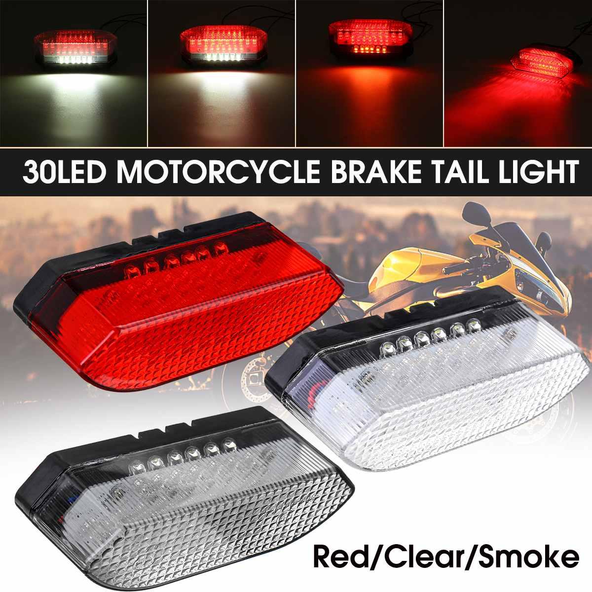 LED Motorcycle Bike Rear Tail Stop Brake Light Lamp Taillight Rear Lamp License Plate Integrated Light Braking For Dirt Bike ATV