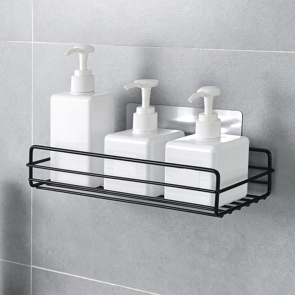 Ванная полка уголок хранения стеллаж органайзер душ стена полка клей нет сверление утюг кухня ванная полка