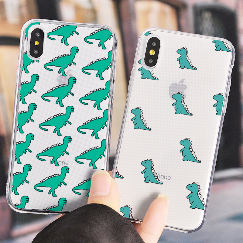 Cute Dinosaur Phone Case For iPhone 11 Pro Max XR X XS MAX 7 8 6 6S Plus Cartoon Dragon Soft TPU Phone Cover For iPhone 5 5S SE