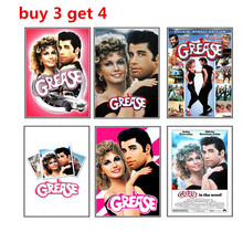 GREASE vintage kraft poster American classic movie poster