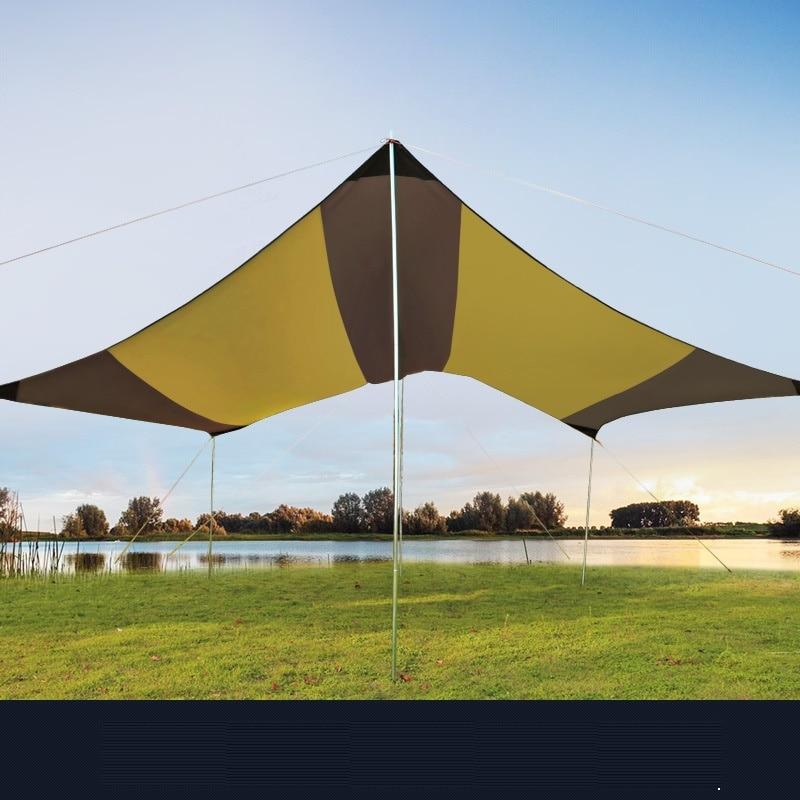 Ultralarge extérieur Anti Uv soleil abri Portable plage Pergola auvent auvent tente bâche abri pour plus de 8 personnes AA60635 - 5
