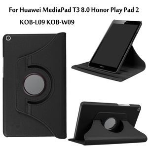 Rotating PU Leather Case For Huawei MediaPad T3 8.0 Honor Play Pad 2 KOB-L09 KOB-W09 Tablet Funda Cover(China)