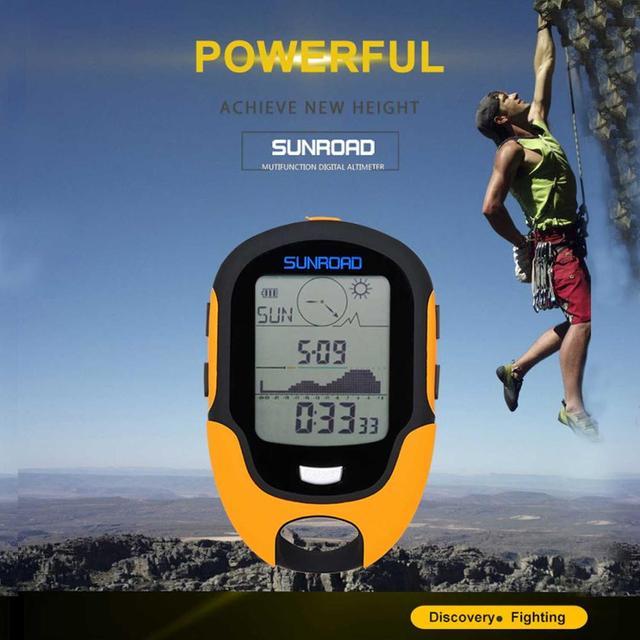 Sunroad montre de poche extérieure avec altimètre boussole température humidité torche led USB charge