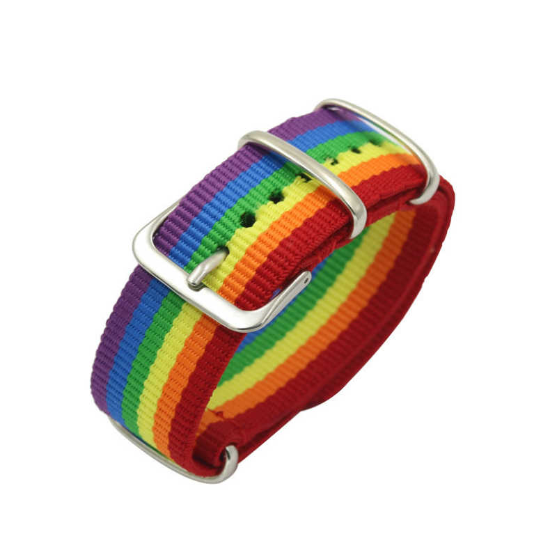 2020 New LGBT Wrap Gay Pride Braided Bracelet Jewelry Rainbow Lesbian and Guy Pride Rope String Strand Friendship Gay